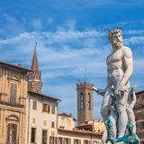 Neptune statue in Piazza della Signoria - Florence, Italy Royalty Free Stock Photography