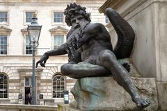 Neptune statue at somerset house, london. Image taken of the neptune statue in the inner courtyard of somerset house, London, england royalty free stock photos