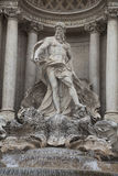 Neptune statue of Trevi Fountain Royalty Free Stock Photography