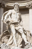Neptune statue of Trevi Fountain (Fontana di Trevi)  in Rome Royalty Free Stock Image