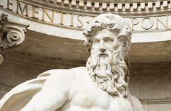 Neptune statue of Trevi Fountain (Fontana di Trevi)  in Rome Royalty Free Stock Photography