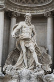Neptune statue, Trevi Fountain, Rome Royalty Free Stock Photos