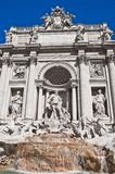 Neptune statue of the Trevi Fountain in Rome Italy stock image