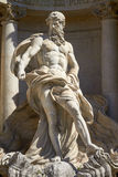 The Neptune Statue of the Trevi Fountain in Rome Italy Stock Photos