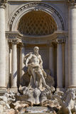 The Neptune Statue of the Trevi Fountain in Rome Italy Royalty Free Stock Photography