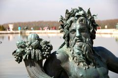 Neptune statue in Versailles Royalty Free Stock Photo