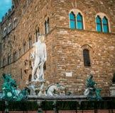 Neptune staty Florence Arkivbild