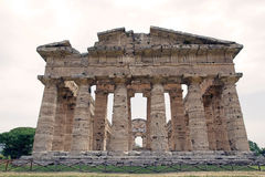 Neptune Temple, Paestum, Italy Stock Images