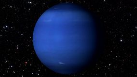 Neptune tournant sur une étoile Backgrund Loopable banque de vidéos
