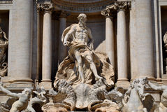 Neptune in the Trevi Fountain Stock Photography