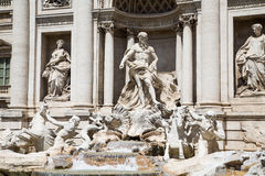 Neptune on Trevi Fountain Royalty Free Stock Image