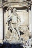 Neptune of Trevi Fountain in Rome, Italy Stock Photo
