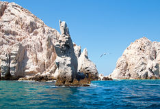 Neptunes Finger rock formation at Lands End at Cabo San Lucas Baja Mexico Royalty Free Stock Photo
