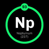 Neptunium chemical element Royalty Free Stock Photography