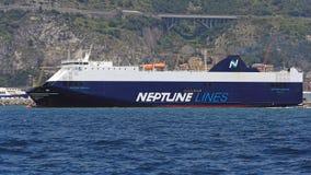 Neptunlinjer skepp Arkivbild