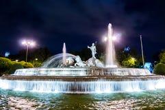 Neptuno-Brunnen in Madrid stockbilder