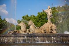 Neptuno fountain Stock Image
