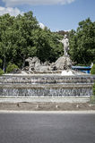 Neptuno fountain, Image of the city of Madrid, its characteristi Royalty Free Stock Images