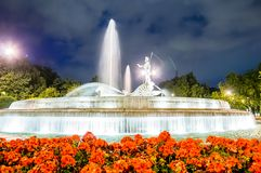 Neptuno fountain in Madrid Royalty Free Stock Image