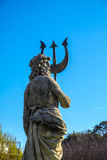 Neptuno sculpture in the Park of the Industry of Spain in Barcel Stock Image