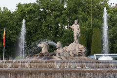 Neptuno square, Madrid, Spain Stock Photography