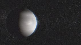 Neptunplanet, solsystemplaneter Roterar den härliga animeringen 3d för planetNeptun av planetNeptun med den alfabetiska kanalen arkivfilmer