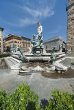 Neptunskulptur Royaltyfria Bilder