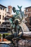 Neptunspringbrunn i Florence, Italien Royaltyfri Bild
