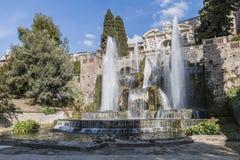 Neptunspringbrunn i villan D'este, Tivoli [3] Arkivbild