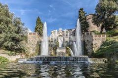 Neptunspringbrunn i villan D'este, Tivoli [1] Arkivbilder