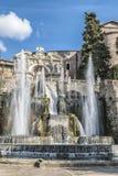 Neptunspringbrunn i villan D'este, Tivoli [2] Royaltyfri Foto