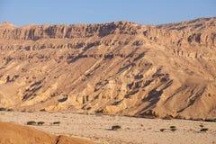 Neqev沙漠旱谷风景 库存图片