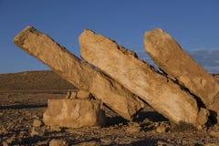 NEQEV沙漠,以色列- 2016年12月20日:在ero上的纪念碑 免版税图库摄影