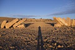 NEQEV沙漠,以色列- 2016年12月20日:在ero上的纪念碑 库存照片