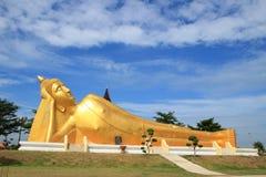 ner ligger buddha Royaltyfri Foto