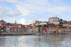 Ner stad av Porto, Portugal royaltyfri fotografi