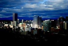 Ner stad Portland Arkivfoto