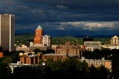Ner stad Portland Fotografering för Bildbyråer