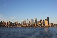 Ner stad Seattle Arkivbilder