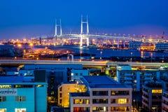 Ner stad Yokohama Arkivbild