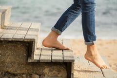 Ner trappan till stranden Royaltyfria Foton