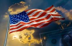 ner upp USA Arkivfoto
