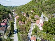 Nera gorge village traditionnel de parc national le vieux pour l'éco-tourisme image libre de droits