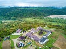 Nera Monastery near Nera Gorges, Banat, Romania stock images