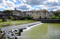 Nerac, французское назначение на реке Baise стоковые изображения