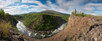 neral panoramaflod siberia för kanjon Fotografering för Bildbyråer