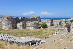 Nerantzia castle at Kos island, Greece Stock Photo