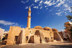 9 9 2016 - Neratzes moské eller Gazi Housein Mosque, Rethymno, Kreta Royaltyfria Foton