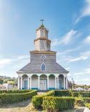 Nercon kyrka - Castro, Chiloe ö, Chile arkivbild