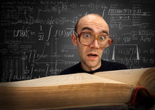 nerd σπουδαστής έκπληκτος στοκ εικόνες με δικαίωμα ελεύθερης χρήσης